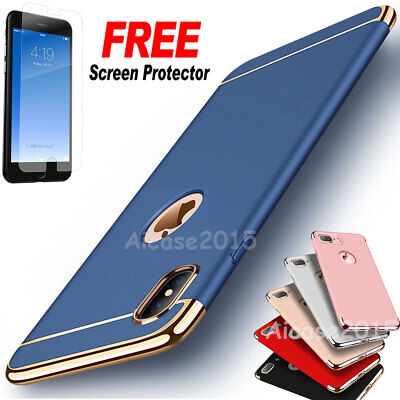 Luxury thin Electroplate Hard Back Shockproof Case Cover for iPhone 7 X 8 Plus