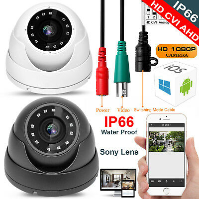1080P 2.4Mp Hd Tvi Ahd Cvi Analogue 4 In 1 Cctv Dome Camera 20M Ir Night Vision