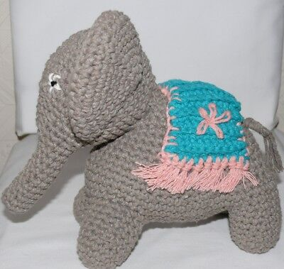 Handcrafted Taupe Jumbo The Elephant Stuffed Toy Tbk2