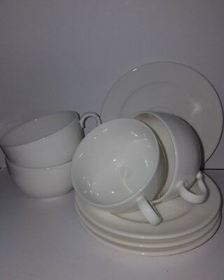 Villeroy Boch Set Of 4 White Duos  As New