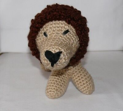 Handcrafted Biege & Brown Leo The Lion Stuffed Toy Tbk3