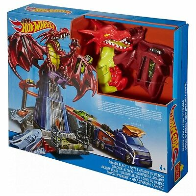 Hot Wheels Toy Dragon Blast Set Includes Launcher Track & Car Age 4+ NEW BOXED