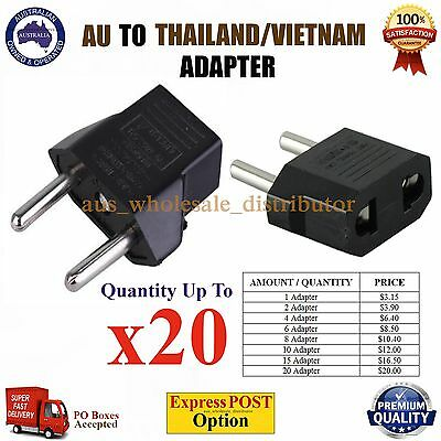 AU AUS to THAILAND VIETNAM Travel Power Plug Convertor Electric Adapter Socket
