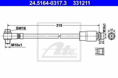 Brake Pipe ATE 24.5164-0317.3 for Ford