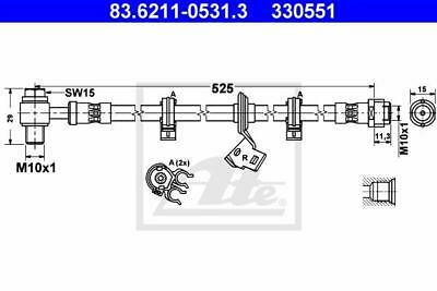 Brake Pipe ATE 83.6211-0531.3 for Mercedes