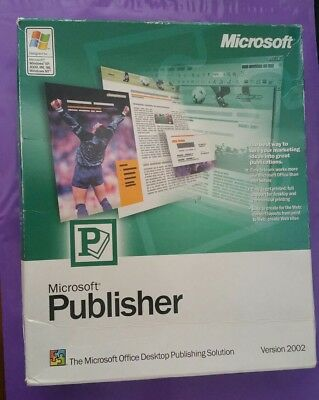 Microsoft Publisher 2002 Genuine Full Retail Version Boxed With Product Key
