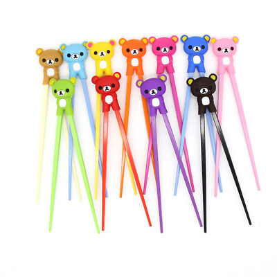 Cute Bear Baby Kids Child Infant Safety Silicone Learning Training Chopsticks
