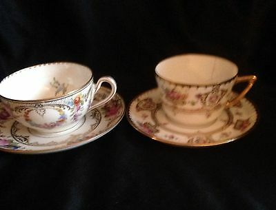 Set Of Two Dresden Cups & Saucers