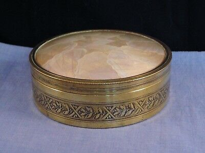 Lovely Antique Peguy Art Deco Butterfly Wing Powder Vanity Box Compact Dish