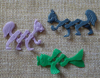 Cereal Toys R&L Stretch Pets x 3, two Squirrels and a Fish FREE POST