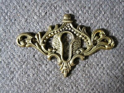 Keyhole Cover Antique Solid Cast Brass Escutcheon 9  (Nine) Total  Available