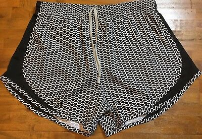 Nike Dri-Fit Tempo Running Shorts - Women's Medium M (black/white print) NWT