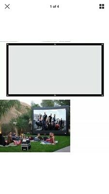 100'' inch 16:9 Fabric Matte Projector Projection Screen