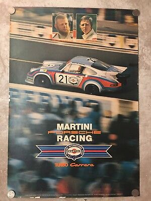1974 Martini Porsche 911 Carrera Turbo Coupe Advertising Sales Poster RARE!!