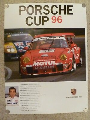 "1996 Porsche 911 GT2 ""Porsche Cup"" Showroom Advertising Sales Poster RARE!! L@@K"
