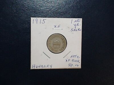 1915 HUNGARY Ten Filler EXTRA FINE 10F COIN Auction Starts At 99 Cents!