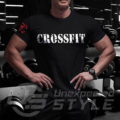 C8 Crossfit GYM T-shirt Sport Fitness Strength WOD Functional Training Workout