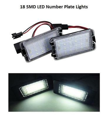 2 x Error Free 6000K LED Number License Plate Light Units for Seat Ibiza 1997-08