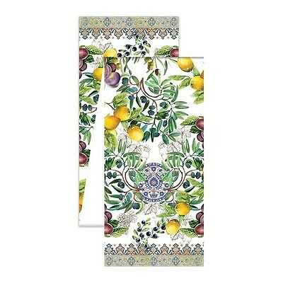"""Michel Design Works Cotton Table Runner 16.5"""" x 60"""" Tuscan Grove - NEW"""