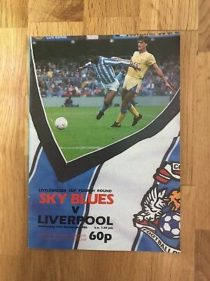 Ipswich Town V Liverpool Programme 19th November 1986