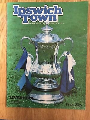 Ipswich V Liverpool Programme 10th March 1979