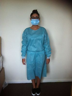 Disposable Medical Gown Not A Scrub Suit  Fancy Dress Halloween Free Hat & Mask
