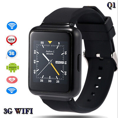 Q1 Android 5.1WiFi GPS 3G SmartWatch Bluetooth Digital Smartwatch SIM Heart Rate
