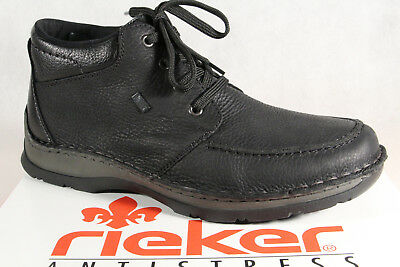 Details about Rieker Men's Boots Ankle Boots Ankle Boots Black 33660 Real Leather New