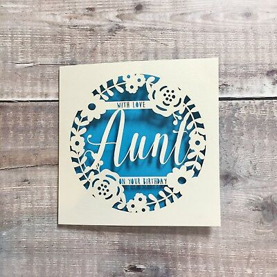 Personalised Aunt Floral Birthday Card Auntie Special 50th 60th 70th