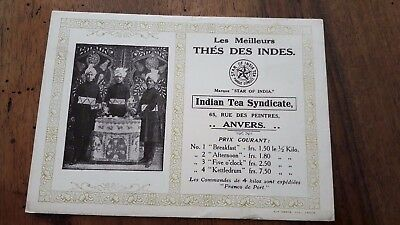 """Buvard """"star Of India"""" Le Meilleurs Thes Des Indes ,indian Tea Syndicate ,anvers"""