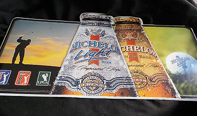 "2001 Michelob Light BEER  Sign Metal PGA Senior PGA LPGA  30 "" x 16 .75 """