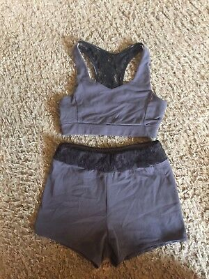 Purple Pixies Two Piece Dance Outfit Child Small/Medium