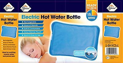 New Rechargeable Electric Hot Water Bottle Bed Hand Cozy Soft Winter Warmer Heat