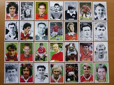 Rare Sporting Collectibles Man Utd Signed Picture Cards