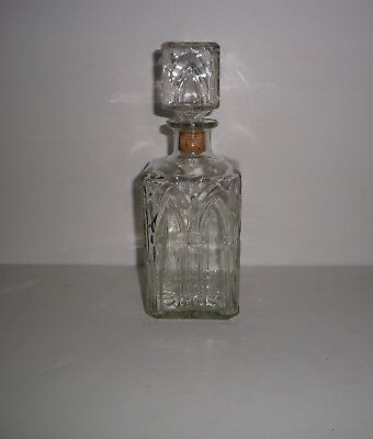 Vintage Church Window Pattern Glass Decanter