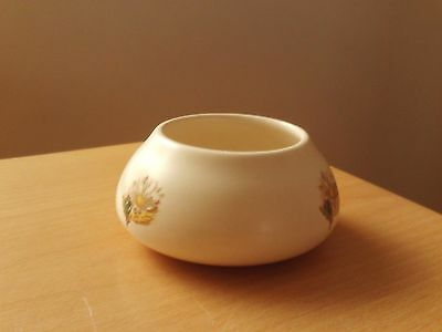 Vintage Purbeck Swanage Pottery Ceramic Floral Dish ~ Just Under 2 Inches High.
