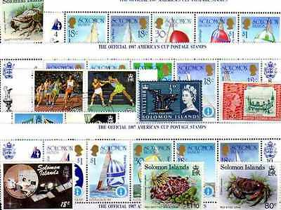 Iles Salomon - Salomon Islands 200 timbres différents