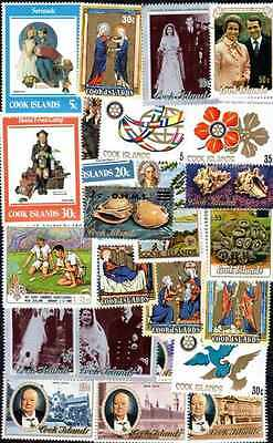Iles Cook - Cook Islands 100 timbres différents