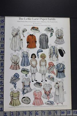 1910 Toy Lettie Lane Paper Doll Flowergirl Wedding Fashion Vintage Print Ee070
