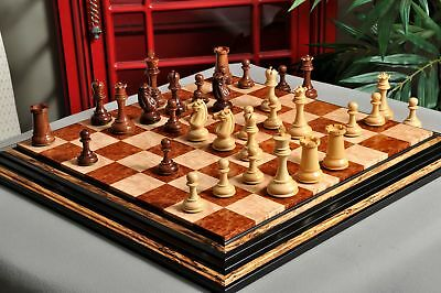 """The Challenger Series Luxury Chess Set - Pieces Only - 4.4"""" King - Natural Boxwo"""