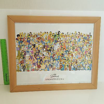 The Simpsons POSTER All Characters in picture frame-Homer Bart Marge Lisa =Uni?