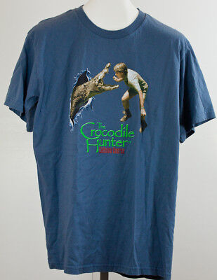 "Vintage Rare ""The Crocodile Hunter"" Tee Shirt Size Large"