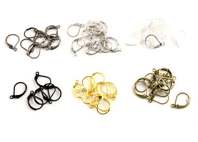 French Lever Back Earring Wires | 15x10mm | Choice of 6 Finishes | Pack of 50pcs