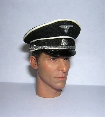 DiD Toys City 1/6th Scale WW2 German Officer's Black Cap