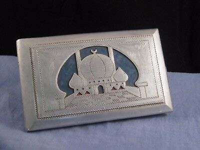 Cigarette Case Wwii Trench Art Deco Aluminium Sweetheart Raf Africa Souvenir Box