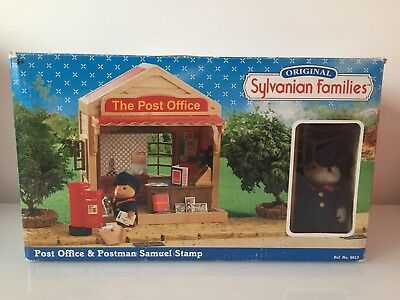 RARE Sylvanian Families Post Office SAMUEL postman Boxed AND ACCESSORIES