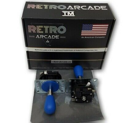 Mag-Stik Arcade Joystick manually switchable 4-8 way Blue Magnetically Centered