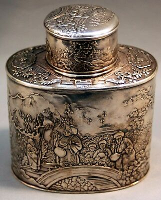 Tea caddy silver China