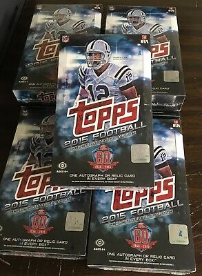 * LOT OF 7 BOXES * 2015 Topps Football Factory Sealed Hobby Box Winston Mariota