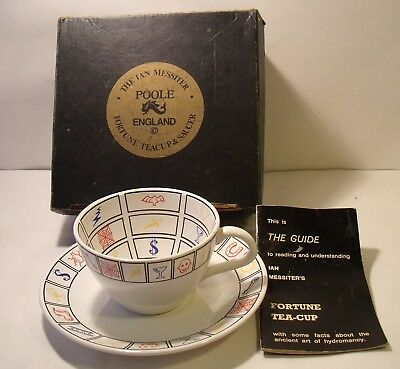 Poole Pottery Ian Messiter Fortune Telling Cup And Saucer (Boxed)